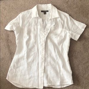 {tommy bahama} linen button down tee